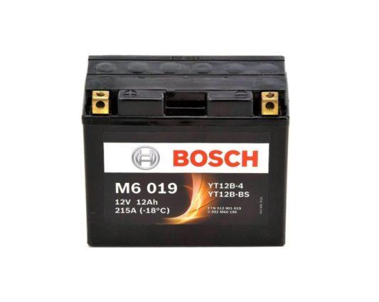 Мото аккумулятор Bosch M6 019 YT12B-BS AGM 12 А/ч в Воронеже