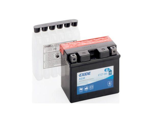 Мото аккумулятор в Воронеже купить Exide AGM ETZ7-BS (YTZ7-BS) 6 А/ч