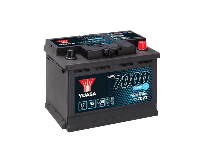 Автомобильный аккумулятор Yuasa YBX7027 Start-Stop EFB 65 А/ч купить в Воронеже