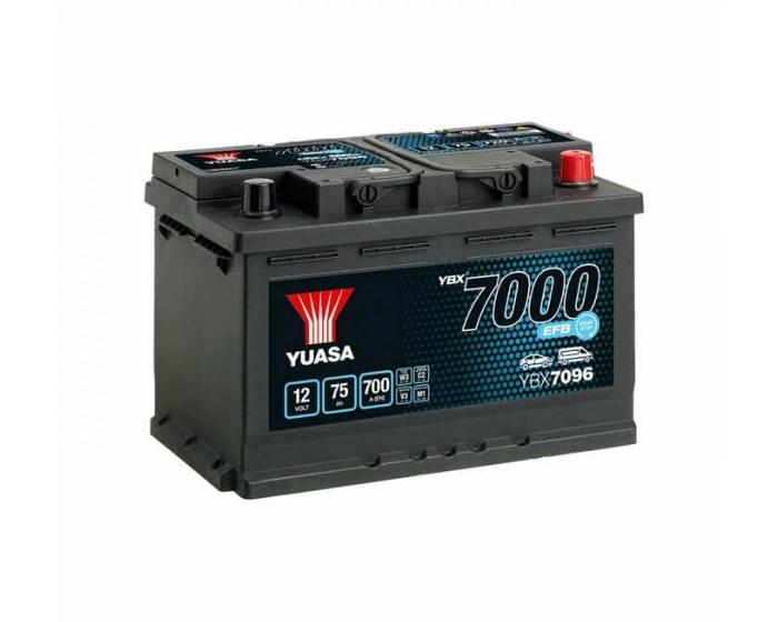 Автомобильный аккумулятор в Воронеже Yuasa YBX7096 Start-Stop EFB 75 А/ч