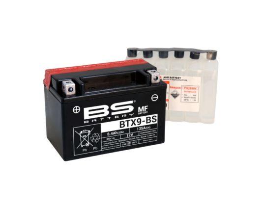 Мото аккумулятор BS Battery BTX9-BS (YTX9-BS) AGM 8.4 А/ч в Воронеже купить