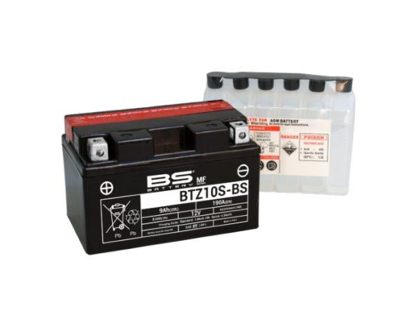 Мото аккумулятор BS Battery BTZ10S-BS (YTZ10S) AGM 8,6 А/ч вВоронеже купить
