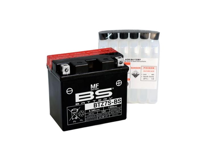 Мото аккумулятор в Воронеже BS Battery BTZ7S-BS (YTZ7S) AGM 6 А/ч купить