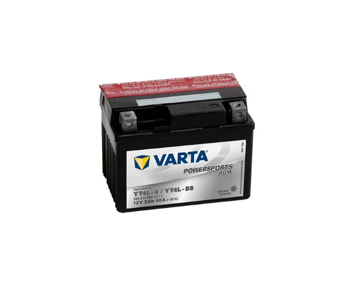 Мото аккумулятор в Воронеже купить Varta Powersports YT4L-BS AGM 3 А/ч