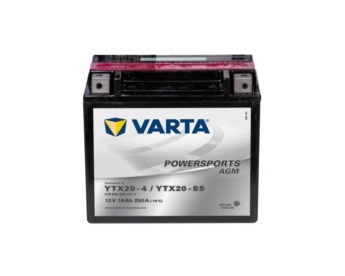 Аккумулятор для мотоцикла в Воронеже Varta Powersports YTX20-BS 18 А/ч