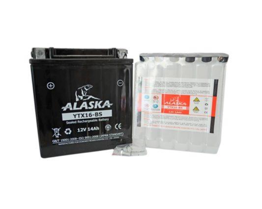 Мото аккумулятор ALASKA YTX16-BS AGM 14 А/ч в Воронеже