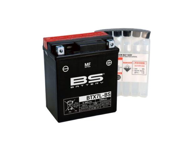Мото аккумулятор BS Battery BTX7L-BS (YTX7L-BS) AGM 6 А/ч в Воронеже купить