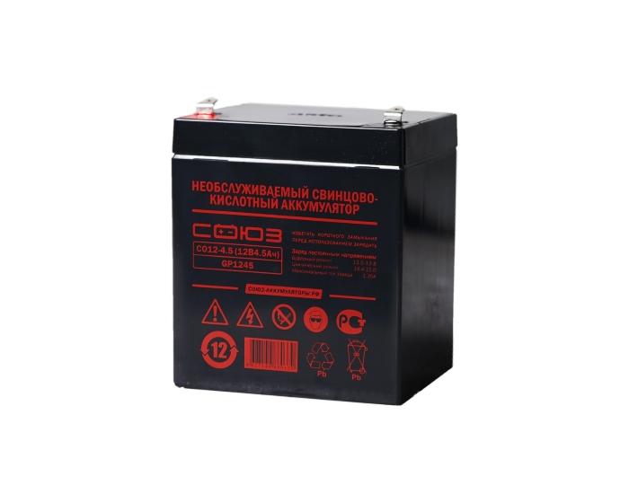 Аккумулятор для машинки детской СОЮЗ СО 12-4,5 AGM 4,5 А/ч в Воронеже