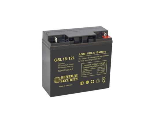 Мото аккумулятор AGM General Security GSL18-12L 18 А/ч купить в Воронеже