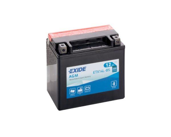 Аккумулятор на квадроцикл Exide AGM ETX14L-BS (YTX14L-BS) 12 А/ч в Воронеже купить