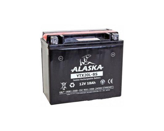 Мото аккумулятор ALASKA AGM YTX20L-BS 18 А/ч в Воронеже купить