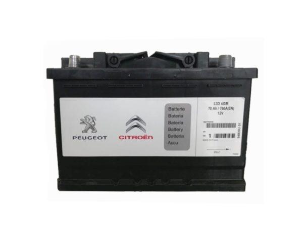 Оригинальный аккумулятор Peugeot/Citroen AGM Start-Stop 70 А/ч в Воронеже в наличии