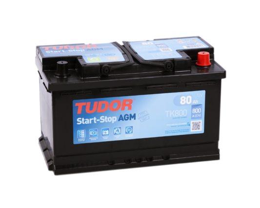 Авто аккумулятор Tudor TK800 Start-Stop AGM 80 А/ч в Воронеже купить