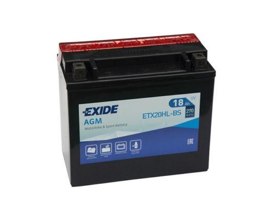 Мото аккумулятор Exide AGM ETX20HL-BS (YTX20HL-BS) 18 А/ч в Воронеже купить