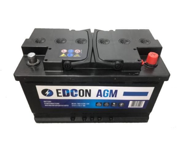 Авто аккумулятор Edcon AGM (Varta) Start-Stop 80 А/ч в Воронеже в наличии купить