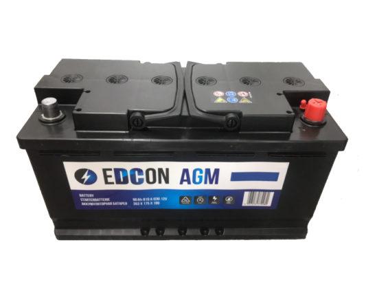 Автомобильынй аккумулятор Edcon AGM (Varta) Start-Stop 90 А/ч в Воронеже купить