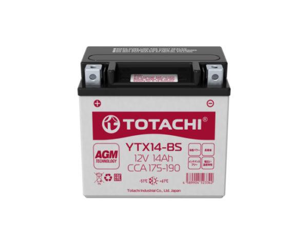 Мото аккумулятор Totachi Moto AGM YTX14-BS 14 А/ч в Воронеже купить в наличии