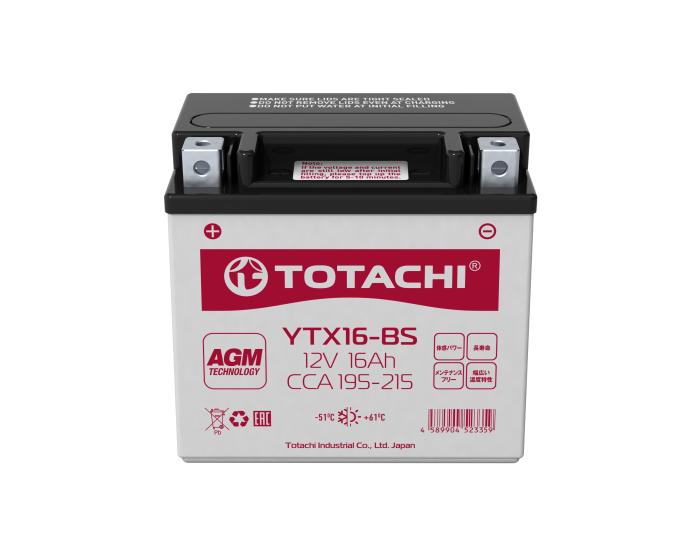 Мото аккумулятор в Воронеже Totachi Moto YTX16-BS AGM 16 А/ч купить