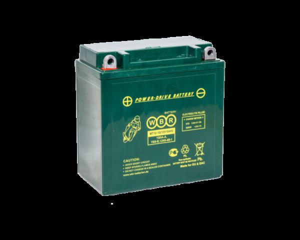Мото аккумулятор для квадроцикла, гидроцикла WBR MT 12-10 (12N9-4B-1) AGM 10 А/ч в Воронеже купить