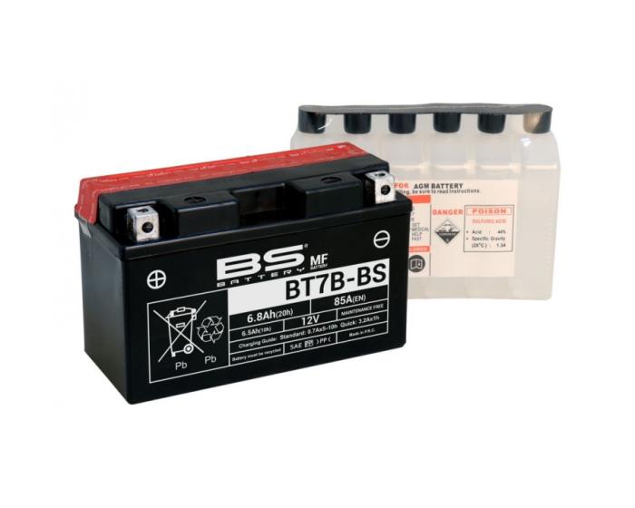 Аккумулятор для квадроцикла BS Battery BT7B-BS (YT7B-BS) AGM 6.8 А/ч в Воронеже купить