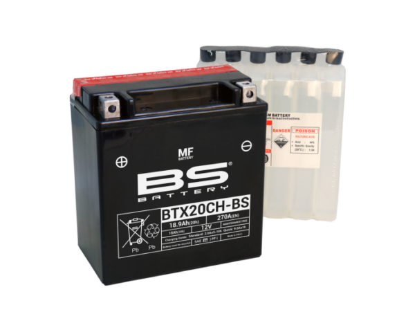 Аккумулятор для мотоцикла и квадроцикла Сузуки BS Battery BTX20CH-BS (YTX20CH-BS) AGM 18.9 А/ч в Воронеже в наличии купить