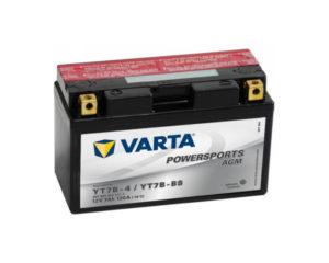 Мотоциклетный аккумулятор Varta Powersports YT7B-BS AGM 7 А/ч в Воронеже в наличии