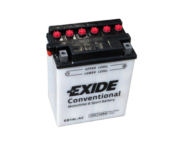 Аккумулятор для мотоцикла Exide Conventional EB14L-A2 (YB14L-A2) 14 А/ч в Воронеже в наличии купить